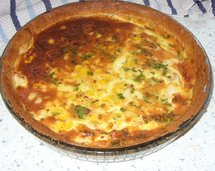 Smoked Haddock & Sweetcorn Tart photo by Jenny Eatwell